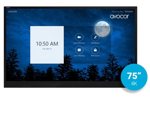 "Avocor E-Series 75"" 4K UltraHD Interactive Display - Zoom Rooms Ready (AVE-7520)"