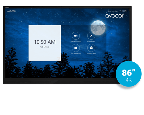 "Avocor E-Series 86"" 4K UltraHD Interactive Display - Zoom Rooms Ready (AVE-8620)"