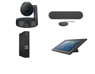 Zoom Rooms Kit featuring the Logitech Rally with single speaker and mic and Dell OptiPlex Perfect for any Huddle Room
