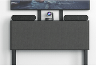 Heckler Design AV Credenza in Black Grey Perfect for Your Video Conferencing Meeting Meeting Rooms (H543-BG)