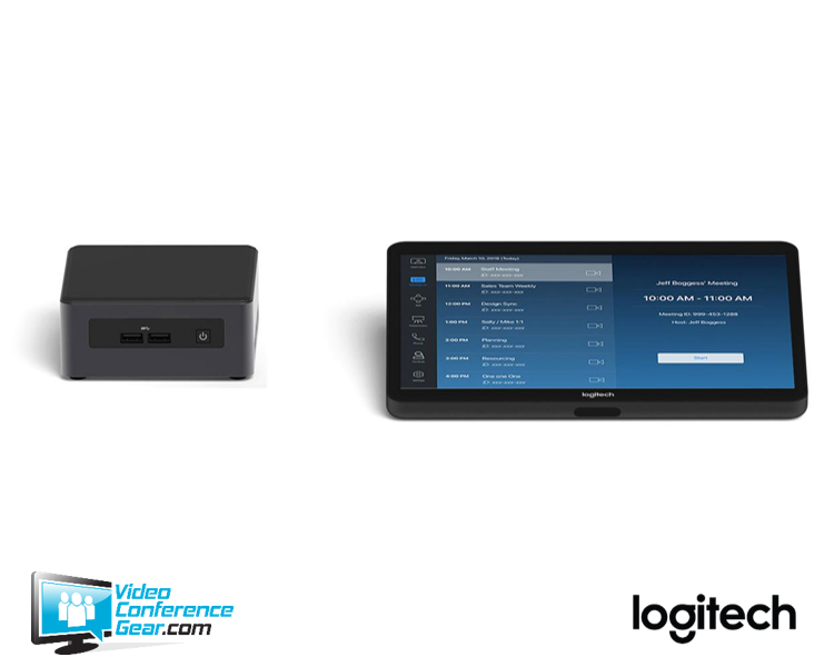 Logitech Tap Video Conferencing Solution Bundle for Zoom Rooms with Console  and NUC