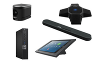 Zoom Rooms Kit featuring the AVer CAM340+ and MXL AC360Z/Yamaha Soundbar Combo with Dell OptiPlex Perfect for Any Huddle Room