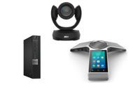 Zoom Rooms Kit featuring the AVer CAM520 Pro and Yealink CP960 with Dell OptiPlex Perfect for Any Conference Room