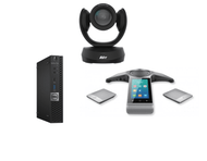Zoom Rooms Kit featuring the AVer CAM520 Pro and Yealink CP960 Wireless Mics with Dell OptiPlex Perfect for Any Conference Room