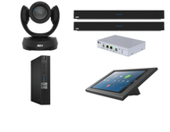 Zoom Rooms Kit featuring the AVer CAM520 Pro and Nureva DualHDL300 with Dell OptiPlex Perfect for Any Conference Large Room