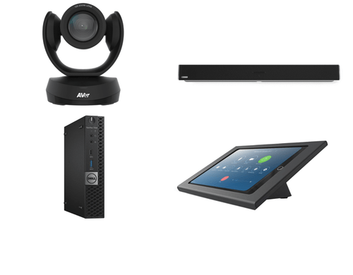 Zoom Rooms Kit featuring the AVer CAM520 Pro2 and Nureva HDL300 with Dell OptiPlex Perfect for Any Conference Room