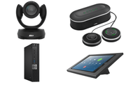Zoom Rooms Kit featuring the AVer CAM520 Pro2 and Yamaha YVC-1000 with Dell OptiPlex Perfect for Any Conference Room