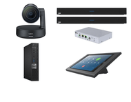 Zoom Rooms Kit featuring the Logitech Rally Camera and Nureva DualHDL300 with Dell OptiPlex Perfect for Any Conference Large Room