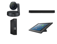 Zoom Rooms Kit featuring the Logitech Rally Camera and Nureva HDL300 with Dell OptiPlex Perfect for Any Conference Room