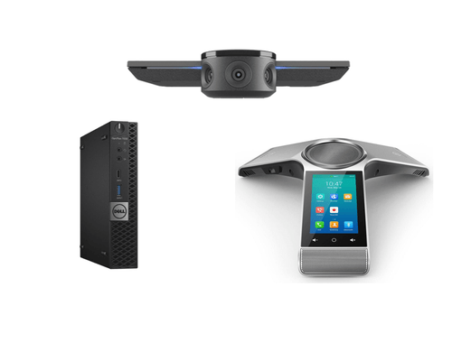 Zoom Rooms Kit featuring the Jabra PanaCast and Yealink CP960 with Dell OptiPlex Perfect for Any Meeting Space