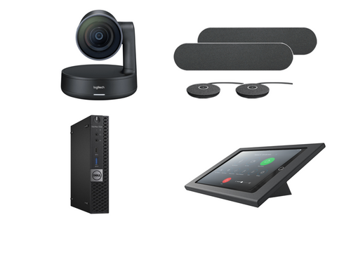 RingCentral Rooms Kit featuring the Logitech Rally Plus with Dell OptiPlex Perfect for Any Conference Room