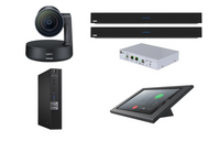 RingCentral Rooms Kit featuring the Logitech Rally Camera and Nureva Dual HDL300 with Dell OptiPlex Perfect for Any Conference Room