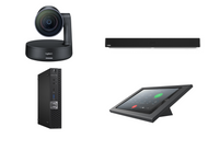 RingCentral Rooms Kit featuring the Logitech Rally Camera and Nureva HDL300 with Dell OptiPlex Perfect for That Modern Look