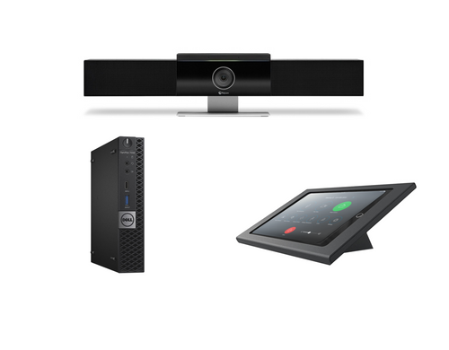 RingCentral Rooms Kit featuring the Poly Studio Video Soundbar with Dell OptiPlex Perfect for Huddle Room or Small Meeting Room