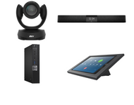 Zoom Rooms Kit featuring the AVer CAM520 Pro2 and Nureva HDL200 with Dell OptiPlex for Conference Rooms up to 18' x 18'