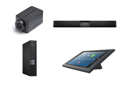 Zoom Rooms Kit featuring the Huddly IQ and Nureva HDL200 with Dell OptiPlex for Conference Rooms up to 18' x 18'