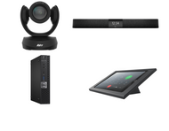 RingCentral Rooms Kit featuring the AVer CAM520 Pro and Nureva HDL200 with Dell OptiPlex for Conference Rooms up to 18' x 18'