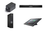 RingCentral Rooms Kit featuring the Huddly IQ and Nureva HDL200 with Dell OptiPlex for Conference Rooms up to 18' x 18'