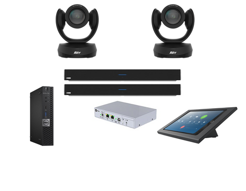 Distance Learning Zoom Rooms Kit with two AVer CAM520 Pro2's and Nureva DualHDL300 for classrooms up to 50'x30'