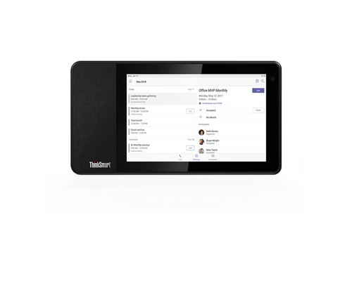 "Lenovo ThinkSmart View for Microsoft Teams - 8"" Desktop Video Assistant"