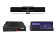 Microsoft Teams Kit featuring the Poly Studio Video Soundbar with the Lenovo Tiny Designed for Small Conference Rooms and Huddle Rooms