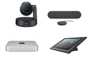 RingCentral Rooms kit with Logitech Rally Camera, 1 Speaker, 1 Mic , Mac Mini, iPad, Heckler Console & Cables for Standard Conference Rooms (RALLY-MAC-RINGCENTRALROOMS)
