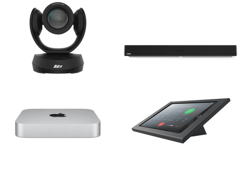 RingCentral Rooms kit with AVer CAM520 PRO camera, Nureva microphone array & speaker, Mac Mini, iPad, Heckler console & cables for large rooms up to 25'x25' (CAM520-PROS-HDL300-MAC-RINGCENTRALROOMS)