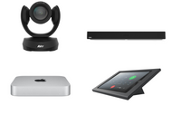 RingCentral Rooms kit with AVer CAM520 Pro2 camera, Nureva microphone array & speaker, Mac Mini, iPad, Heckler console & cables for large rooms up to 25'x25' (CAM520-PROS-HDL300-MAC-RINGCENTRALROOMS)
