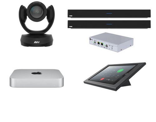 RingCentral Rooms kit with AVer CAM520 Pro2 camera, Dual Nureva microphone array & speaker, Mac Mini, iPad, Heckler console & cables for XL rooms up to 45'x30' (CAM520-PROS-DUALHDL300-MAC-RINGCENTRALROOMS)