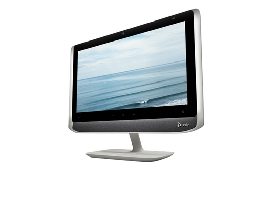 Poly Studio P21, 21.5 1080p USB All-In-One Monitor, Integrated 1080p Camera, Stereo Speaker, Mic, Touchbar, (1) USB Type C, (2) USB Type A; Open Eco System; USB A to C cable, with an adapter work with Zoom, Microsoft Teams, GoTo Meeting, Google Meets