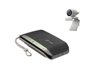 Poly Studio P5 Kit - Studio P5 Camera and Poly Sync 20+ - Personal Video Conferencing bundle with FullHD Camera and tabletop speakerphone, works with Zoom, Microsoft Teams, Goto Meetings, Google Meets Great for Home Office or Work from Home
