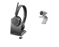 Poly Studio P5 Kit - Studio P5 Camera and Poly Voyager Wirless Headset - includes Video Conferencing Camera and Wireless Headset works with Zoom, Microsoft Teams, GoTo Meeting, Google Meets designed for Personal Workspaces, Home office and Work from Home
