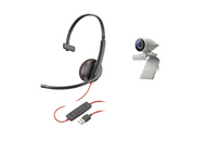 Poly Studio P5 Kit - Studio P5 Camera and Poly Blackwire Headset (single ear) - Bundled Video Conferencing Camera and Wired Headset works with Zoom, Microsoft Teams, GoTo Meeting, Google Meets designed for Personal Workspaces, Home Office and Work From Home