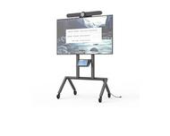 """Heckler AV Cart for Logitech Rally Bar - Black Grey - Single Screen up to 75"""""""