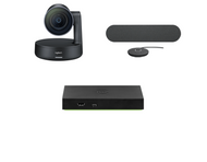 Mersive Wireless Conferencing Medium Conference Room Kit featuring the Logitech Rally Camera and Audio Solution