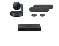 Mersive Wireless Conferencing Medium Conference Room Kit featuring the Logitech Rally Plus Camera and Audio Solution
