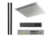 Yamaha ADECIA Conference Room Audio Solution - White Ceiling Microphone and Black In-line Speakers