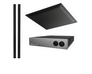Yamaha ADECIA Conference Room Audio Solution - Black Ceiling Microphone and Black In-line Speakers (does not include network switch)