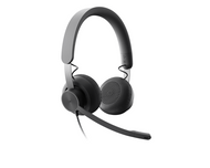 Logitech Zone Bluetooth Wired Headset-Microsoft Team Certified with Teams Control Features (981-000871)