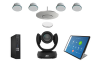 Zoom Rooms kit with Aver CAM520 Pro2 and Stem Audio 1 Ceiling Mic and 4 PoE+ Speakers for Boardrooms