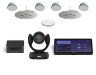 Microsoft Teams kit with Aver CAM520 Pro2 and Stem Audio 2 Ceiling Mic and 4 PoE+ Speakers for Boardrooms