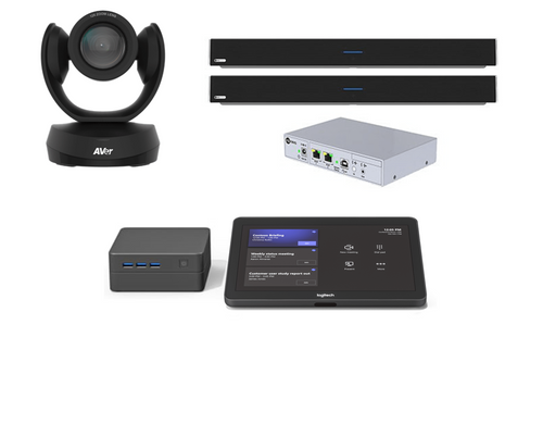 Microsoft Teams Room Video Conferencing kit with AVer CAM520 Pro2 and Nureva Dual HDL300 Full Room Audio for Large Rooms up to 50'x35' and 20+ people