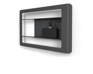 Heckler H636 Front Mount for iPad Mini with Redpark Gigabit Ethernet + Power Over Ethernet (Black Grey)