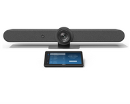 Logitech Rally Bar with Tap V2 Configured for 8x8 Spaces Ready to Use Video Conferencing - Android Video Conference Room Appliance