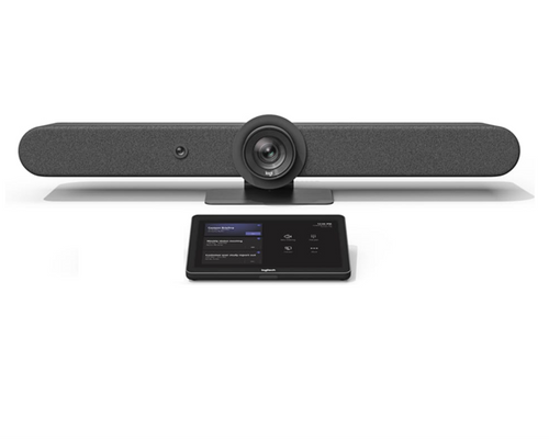 Logitech Rally Bar with Tap V2 Configured for Microsoft Teams Ready to Use Video Conferencing - Android Video Conference Room Appliance