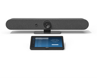 Logitech Rally Bar Mini with Tap V2 Configured for 8x8 Spaces Ready to Use Video Conferencing - Android Video Conference Room Appliance