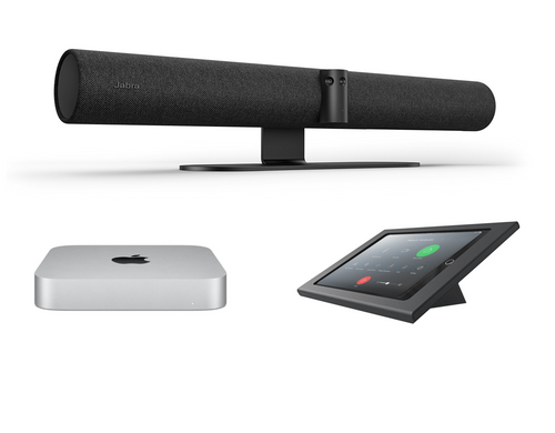 RingCentral Rooms kit with Jabra PanaCast 50 Mac Mini, iPad, Heckler console & cables for medium rooms