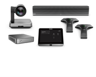 Yealink MVC840 Microsoft Teams Rooms Kit Featuring the UVC84 and VCM34 Microphone Array with Soundbar for Large Rooms