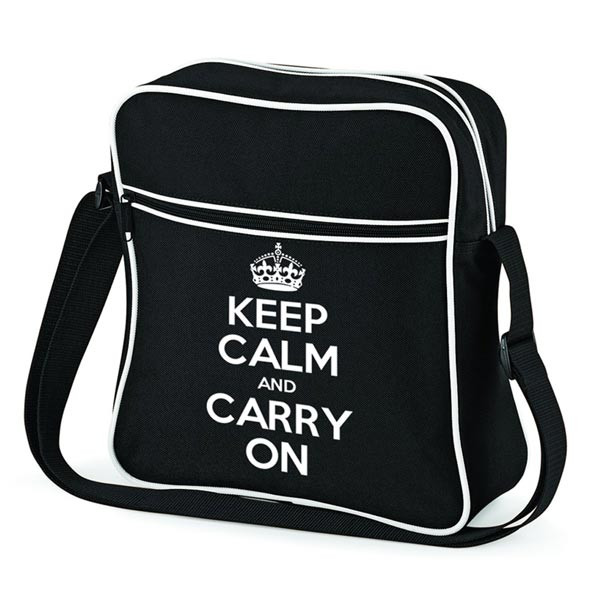 KEEP CALM AND CARRY ON FLIGHT BAG