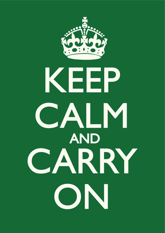 keep calm and carry on british racing green white poster